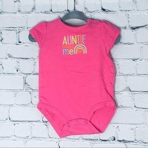 Onesie one piece bodysuite auntie ❤️ loves 6 month